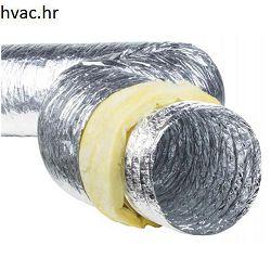 Fleksibilna cijev izolirana  ISO-ALU fi 102 x 10m