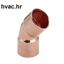 Bakreno (Cu) koljeno fi 15 mm, 45° ŽŽ