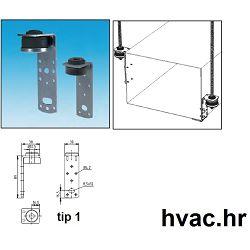 Ovjes L za ventilacione kanale M8