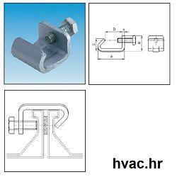 Spojnica za ventilacijske kanale  M8 30X3MM ( stezaljka)