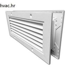 Venitlacijska rešetka za ugradnju u vrata 400x200