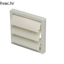 Završna kvadratna PVC rešetka fi 100