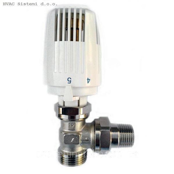 Termostatski ventil s termo glavom, eurokonus kutni 1/2-3/4
