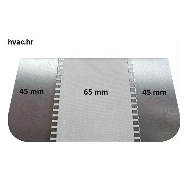 Fleksibilni ventilacijski priključak - Jedreno platno 45 mm x 60 mm x 45 mm