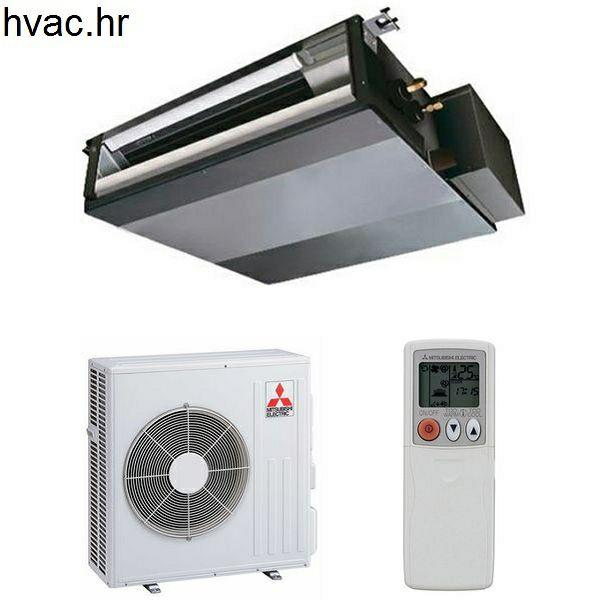 Klima uređaj 5,6 kW s unutarnjom kanalskom jedinicom  - MITSUBISHI SEZ-KD/SUZ-KD