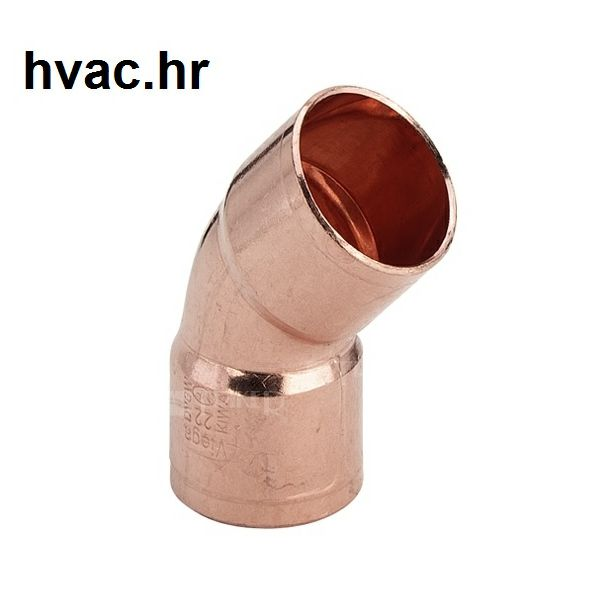 Bakreno (Cu) koljeno fi 22 mm, 45° ŽŽ