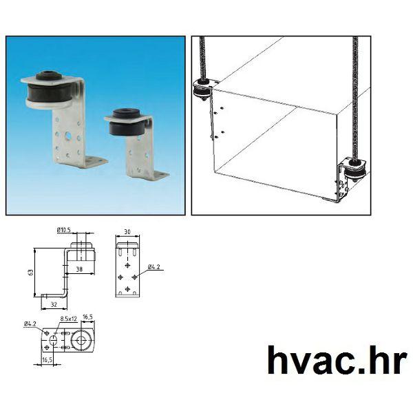 Ovjes Z za ventilacione kanale M8