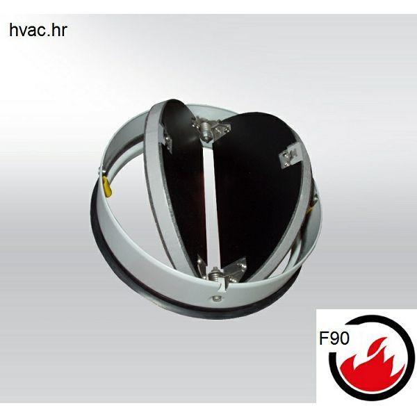 Protupožarna nepovratna klapna fi 160 , F90