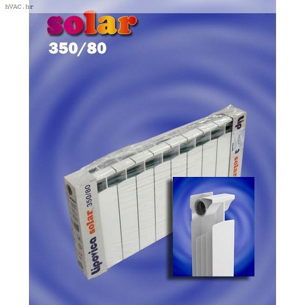 RADIJATOR LIPOVICA SOLAR 350/80, 104 W / aluminijski članak