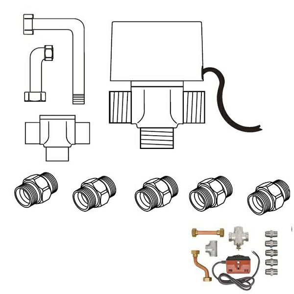 Set za spajanje za 035 KN kasetne ventilokonvektore - VA 1-3VW 5-10K
