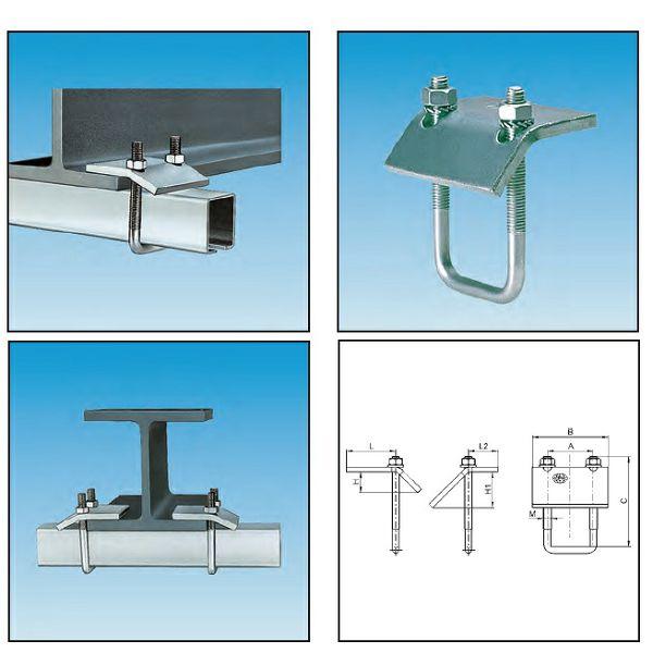 Ovjes za profile nosač ( I-T-H ), MPC 38/ 40-40/60  M10